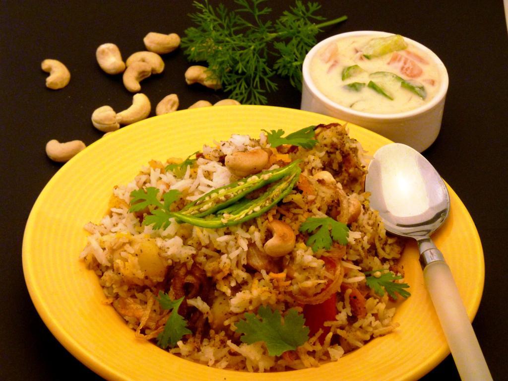 Layered Vegetable Dum Biryani