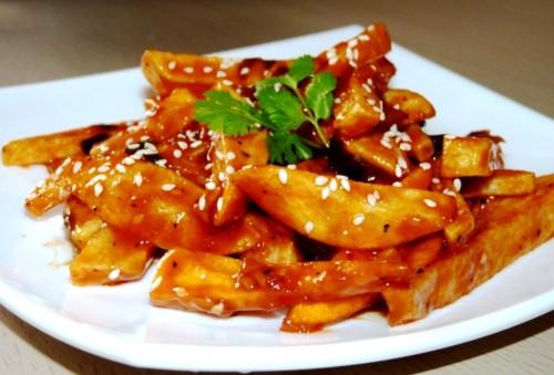 Honey chilli potato fries