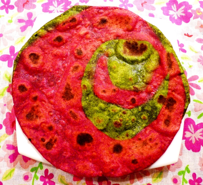 Colourful Spinach Beetroot Paratha