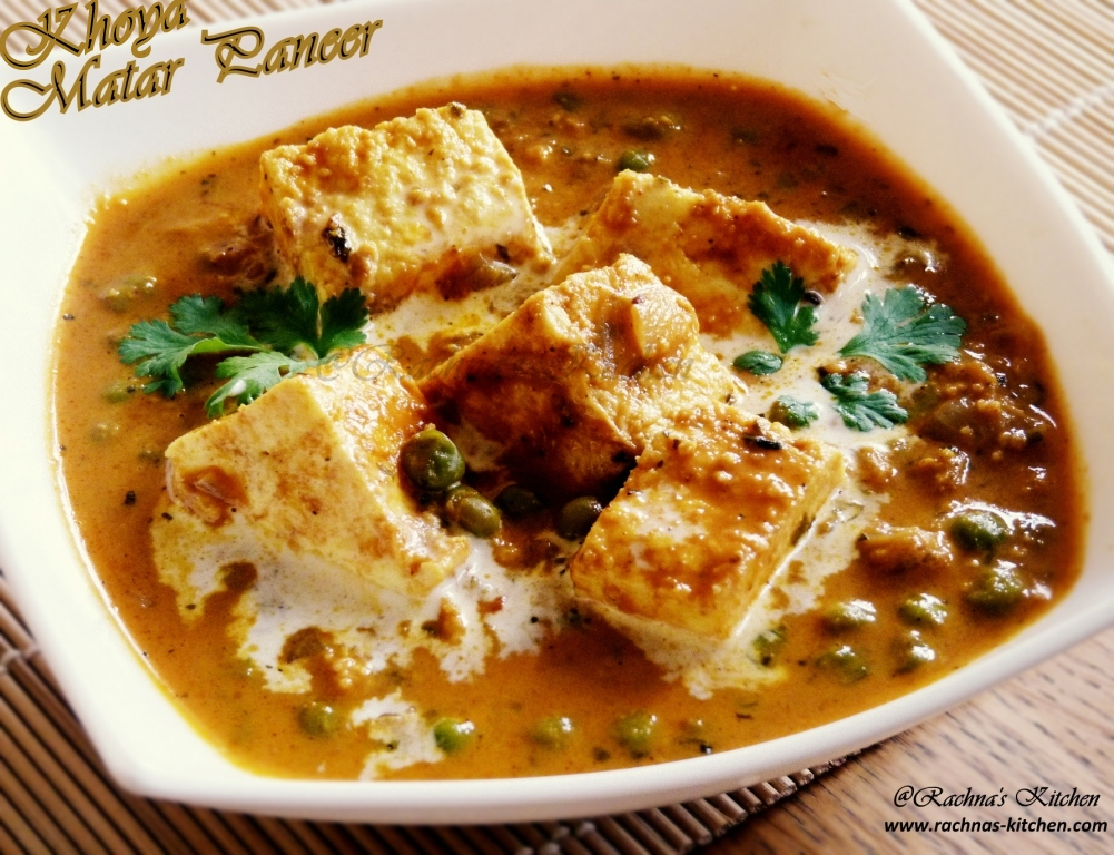 Mutter paneer recipe with khoya