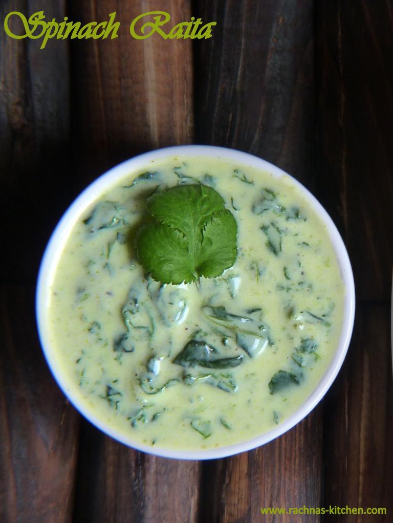 Spinach raita Recipe