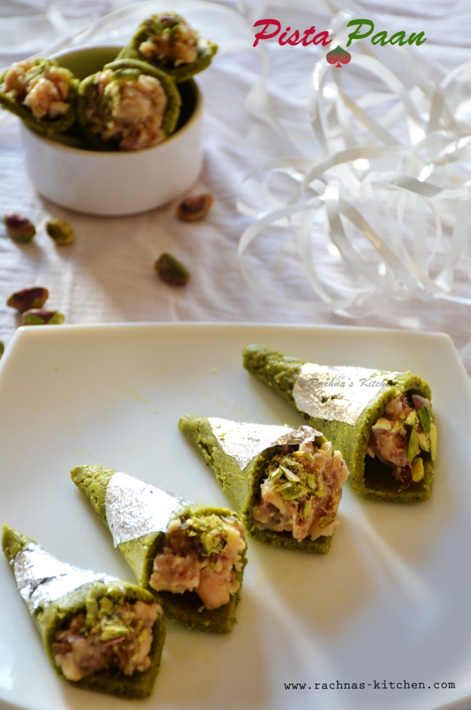 How to make pista paan at home