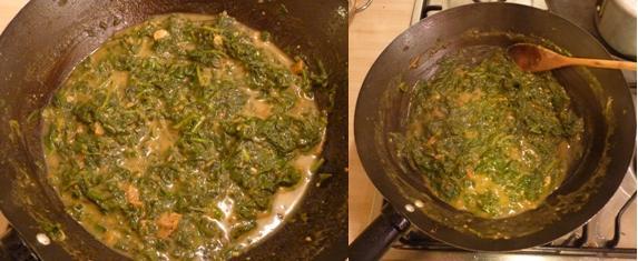 Spinach curry recipe