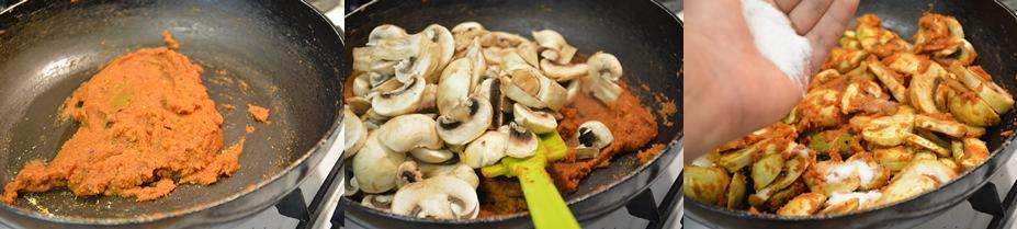 mushroom masala step 3