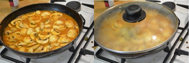 mushroom masala step 4