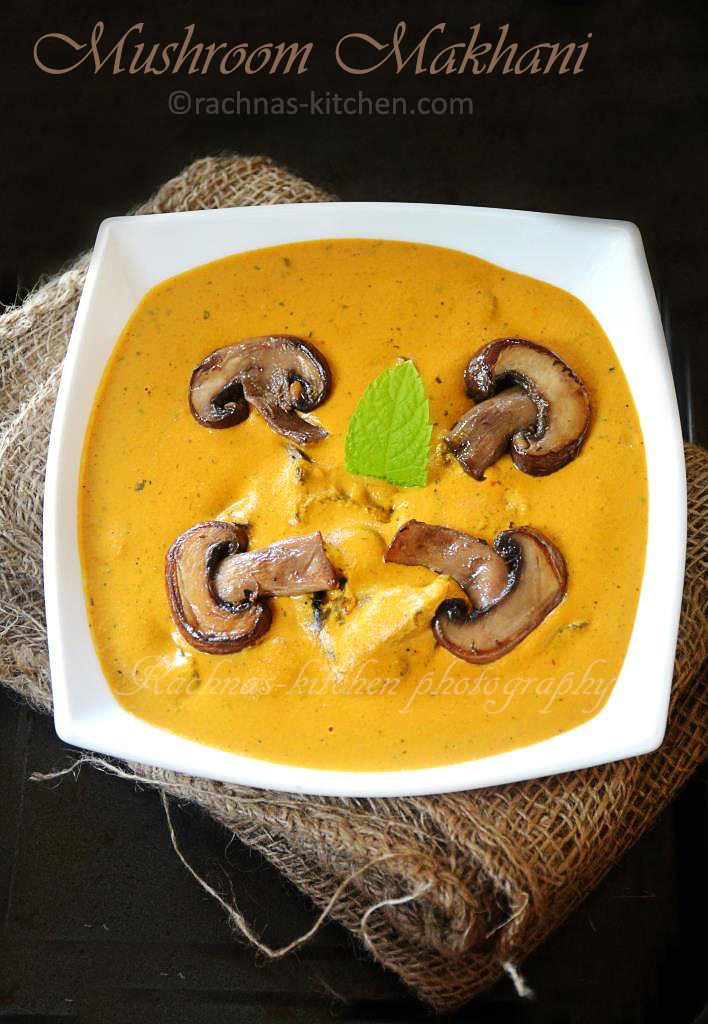 mushroom makhani recipe
