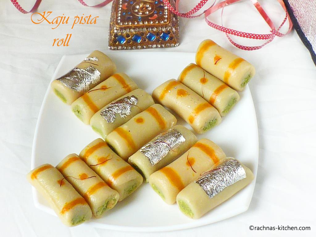 how to make kaju pista roll