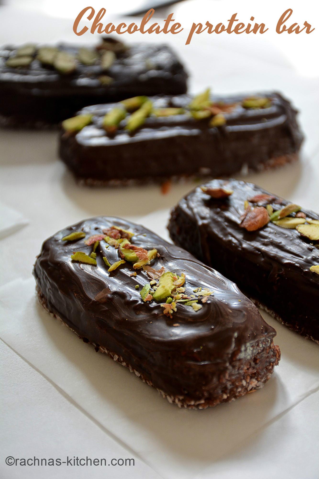 High protein chocolate bar
