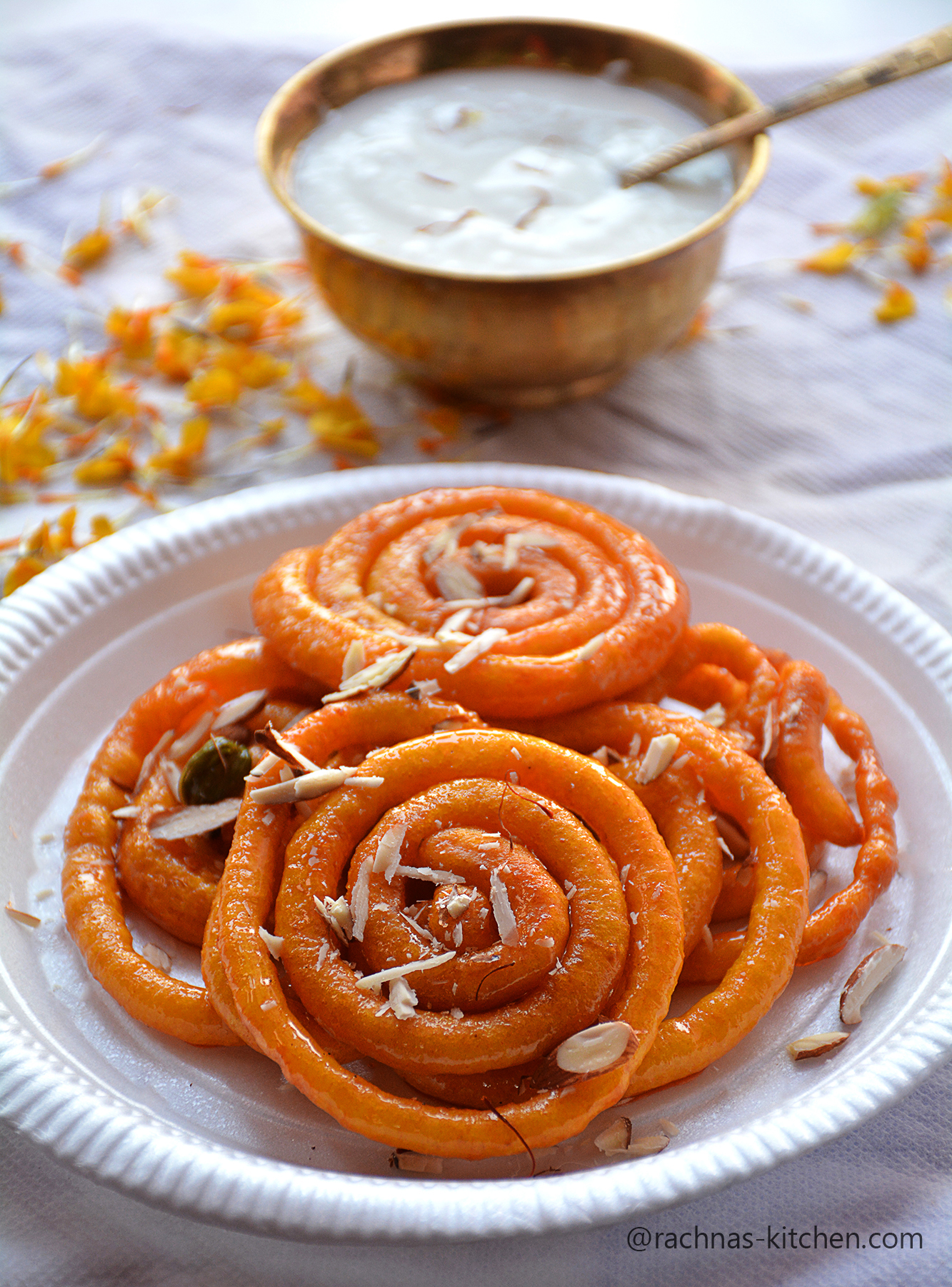 Instant jalebi with yeast