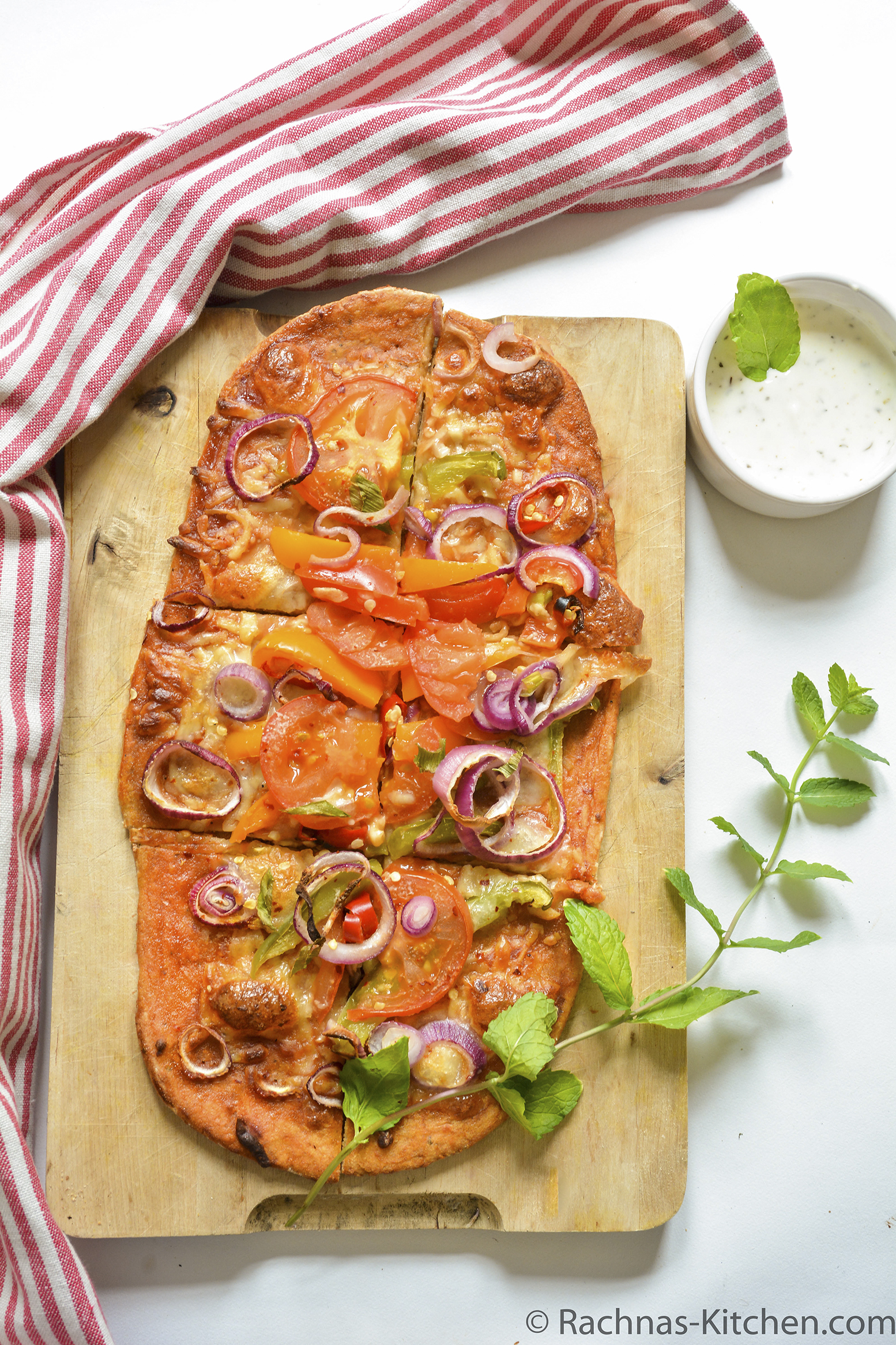Wholewheat thincrust pizza recipe