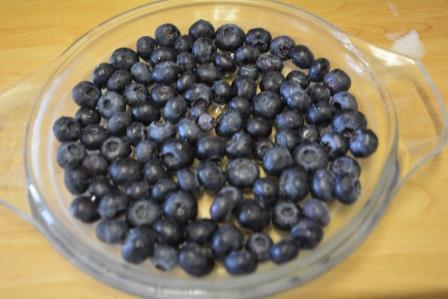Blueberry cobbler step 2