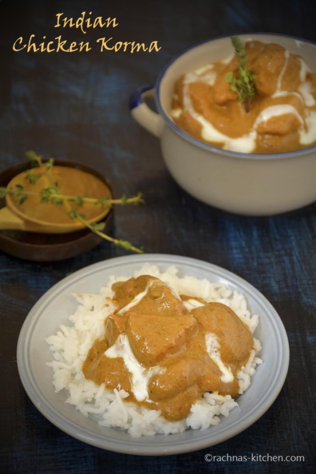 Indian chicken kurma