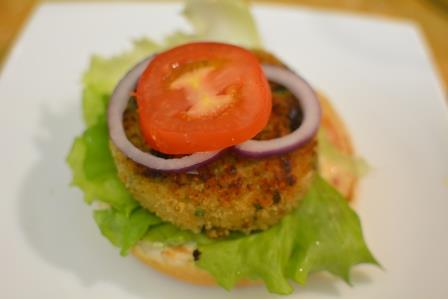 aloo tikki burger step 23