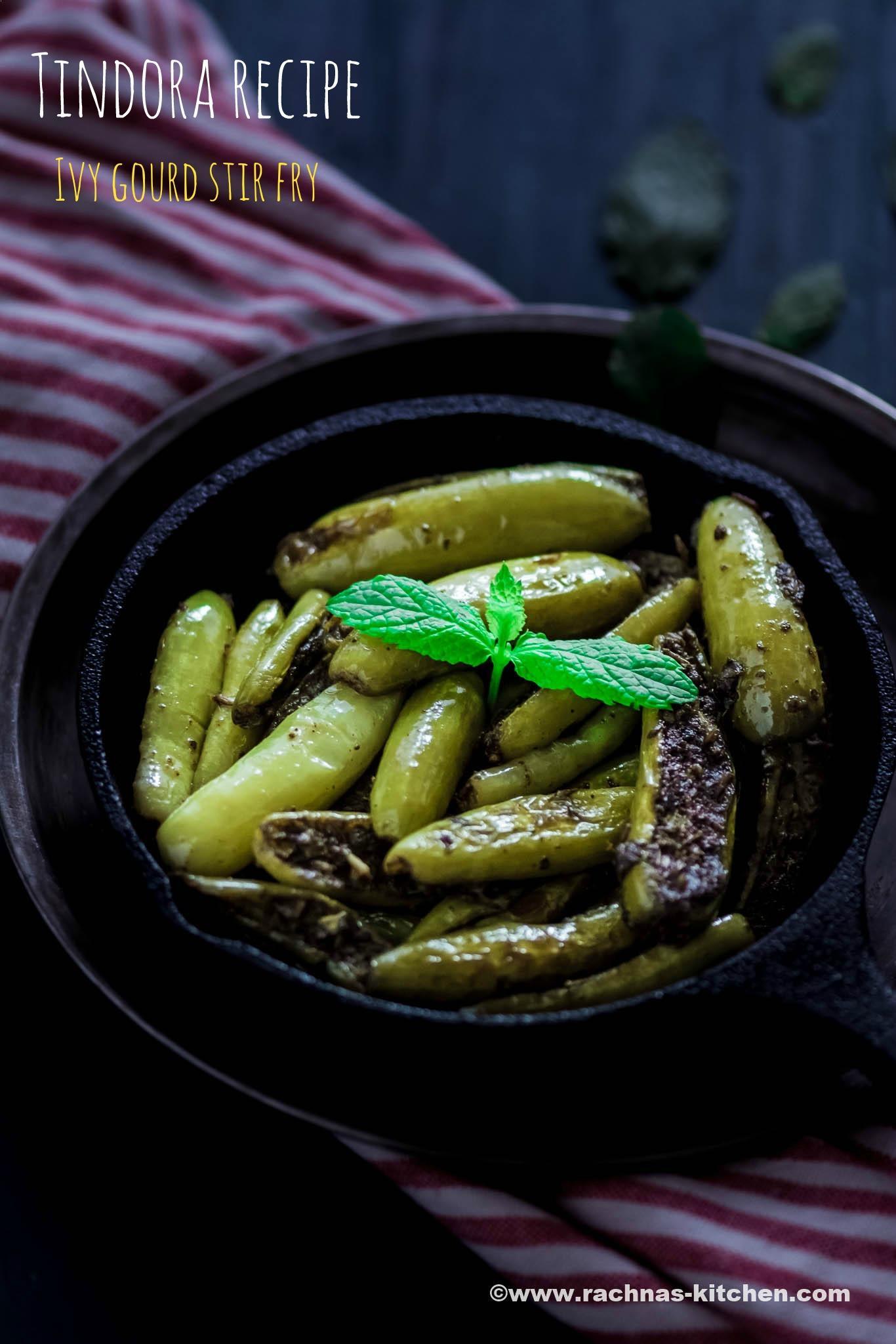 Tindora fry recipe