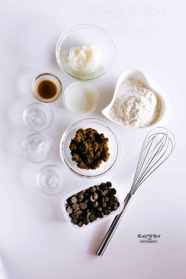eggless chocolate chips cookies ingredients