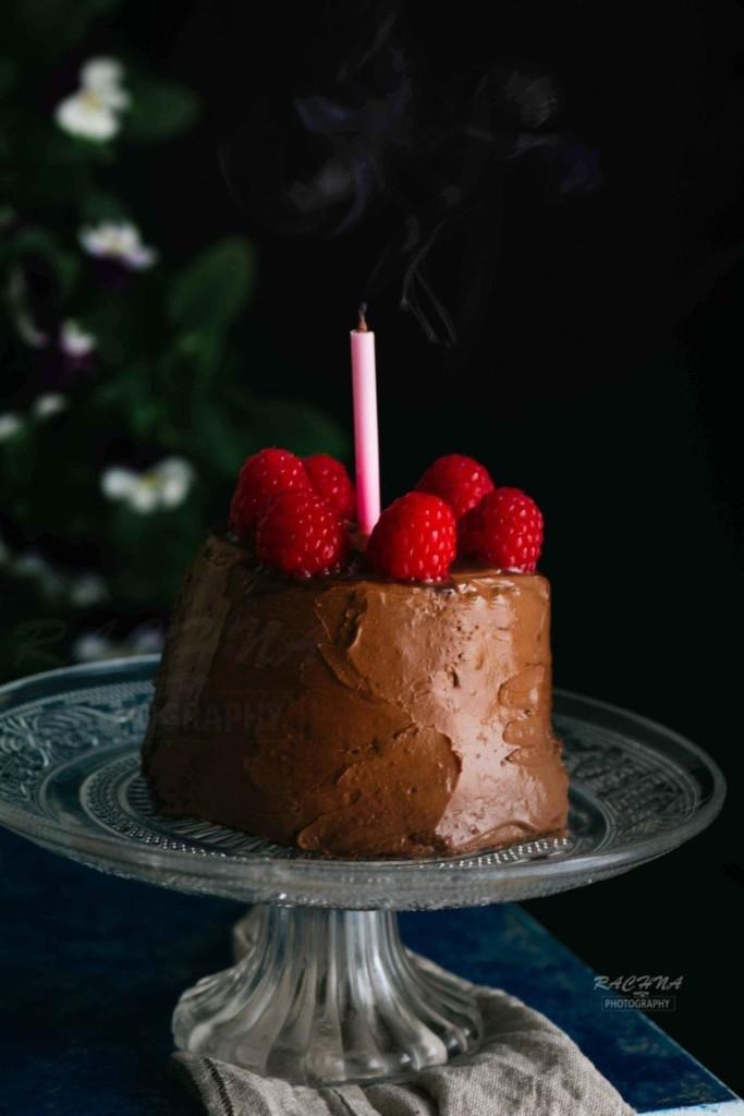 eggless chocolate cake in microwave