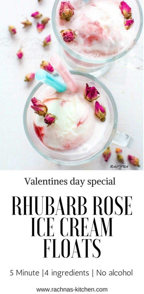 Rhubarb rose ice cream floats pin